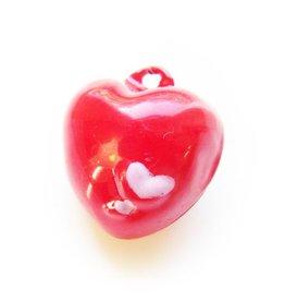 Belletje rood hartje (1x)