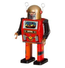 Mechato Vintage Robot tv spaceman gouden helm