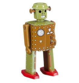 Mechato Vintage Robot anatomic man bruin/groen