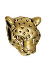 Metalen luipaardkraal goudkleurig