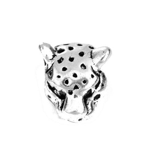 Metalen luipaardkraal zilverkleurig