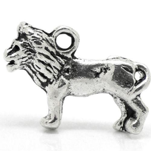 Bedel leeuw zilverkleurig