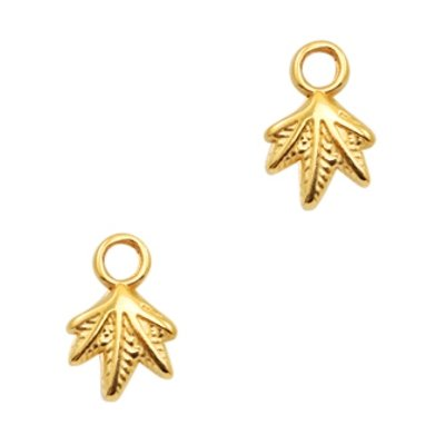 Bedel DQ miniblaadje goud (2x)