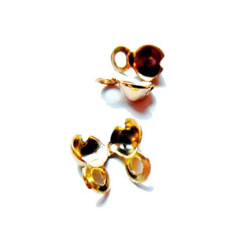 Ball chain dq goud 1,2 mm