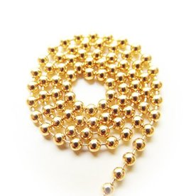 Ball chain goud 2 mm