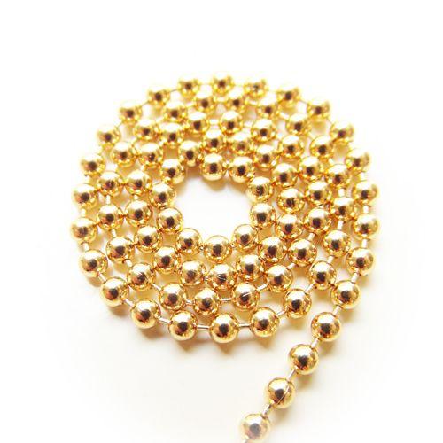 Ball chain goud 3 mm