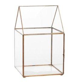 Hubsch Terrarium glas en koper