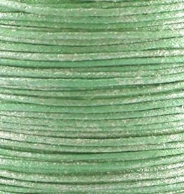 Waxkoord katoen 0,5 mm mint glitter (5m)