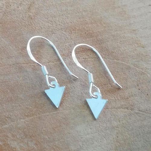 Sterling zilveren oorbellen driehoekjes