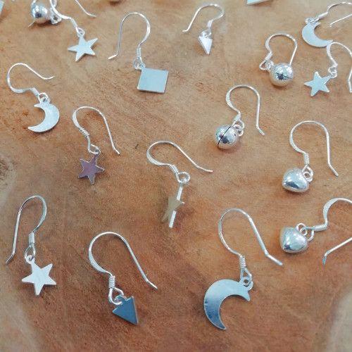 Sterling zilveren oorbellen ruitjes