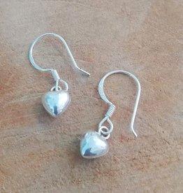 Sterling zilveren oorbellen hartjes