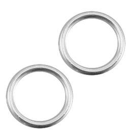 Dichte ronde ring antiek zilver DQ (p.s.)