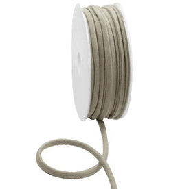 Stitched elastisch lint metallic taupe (p/10 cm)