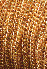 Facet schakelketting rvs goud (p/10cm)