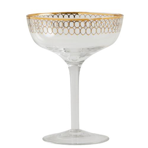Nordal Cocktailglas gouden patroon