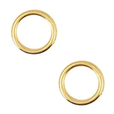 betaalbare kralen Dq bedel cirkel 12 mm goud (1x)