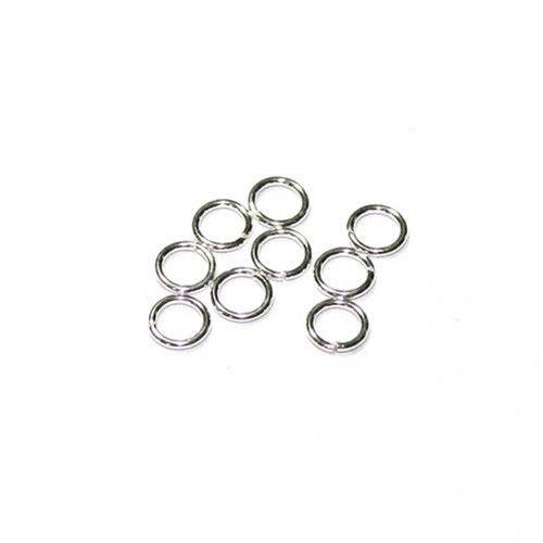 betaalbare kralen Buigring sterling zilver 6 mm (2x)