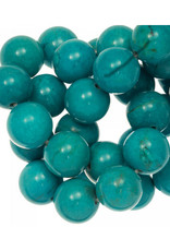 Ronde Sinkiang turquoise kraal 4 mm (10x)