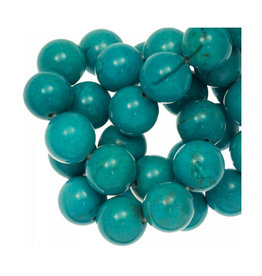Ronde Sinkiang turquoise kraal 4 mm (10x of streng)