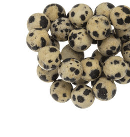 Ronde kraal dalmatier jasper 4 mm
