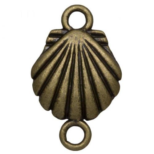 Tussenstuk schelp brons (1x)