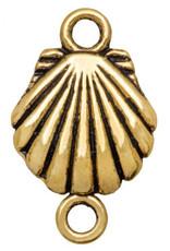 Tussenstuk schelp goud (1x)