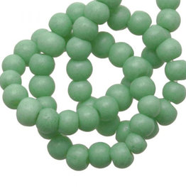 Glaskralen stone wash mint groen 4 mm  (30x)