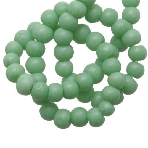 Glaskralen stone wash mint groen 4 mm  (30x)