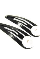 Restant zwarte haarclip met plakvlak (100x)
