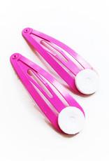 Restant roze haarclip met plakvlak (100x)