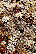 Bedel bloem antiek goud (5x)