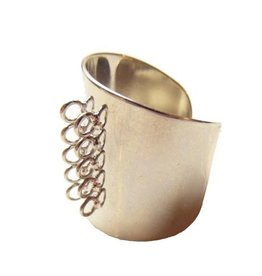 Ring component met 10 rijgogen (bulk 15x)