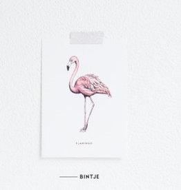 Meesie & Bintje Kaart flamingo
