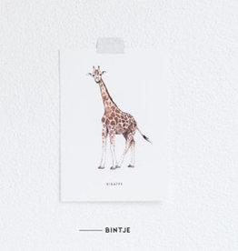 Meesie & Bintje Kaart giraf