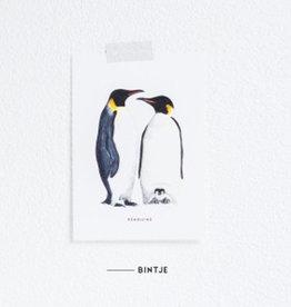 Meesie & Bintje Kaart pinguins