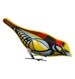 Mechato Oude opwindvogel van blik