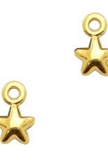Bedel DQ mini sterretje goud (1x)