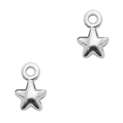 Bedel DQ mini sterretje antiek zilver (1x)