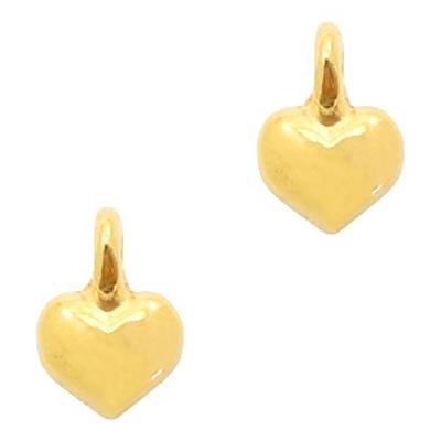 Bedel DQ mini hartje goud (1x)