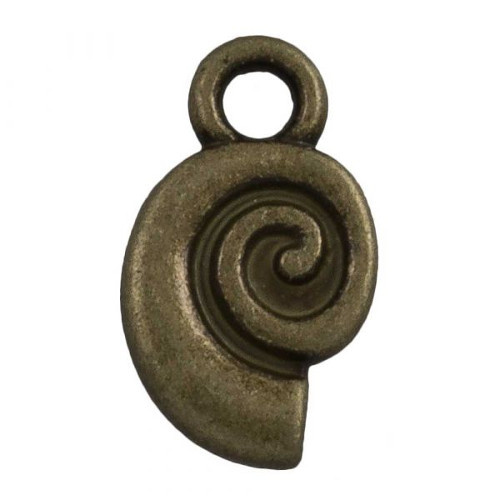 Bedel spiraalschelp brons (1x)