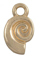 Bedel spiraalschelp goud (1x)