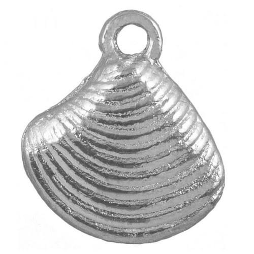 Bedel schelp antiek zilver (1x)