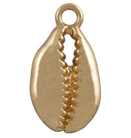 Bedel metaal kaurischelp goud (1x)
