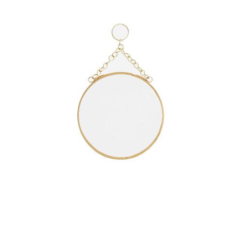 Madame Stoltz Ronde gouden (brass) spiegel