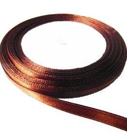 Bruin satijnlint 6 mm (10m)