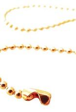 Ball chain oranje 1,5 mm