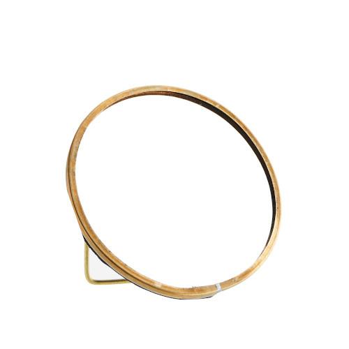 Madame Stoltz Rond goud (brass) spiegeltje staand