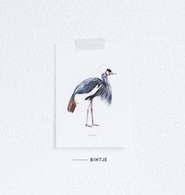 Meesie & Bintje Kaart kraanvogel