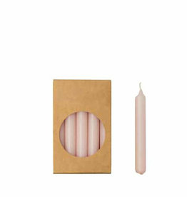 Rustik Lys Potloodkaarsjes blos roze kort