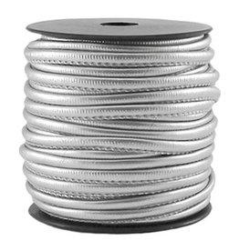 Gestikt imitatieleer zilver (p/m)